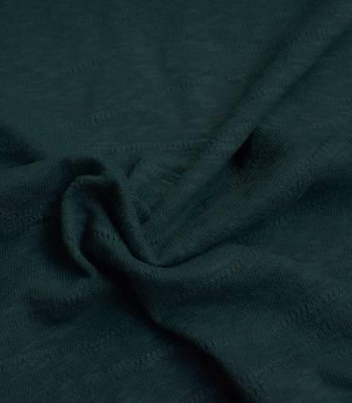 Tissu Jersey Bio - Jacquard Slub - Bottle green