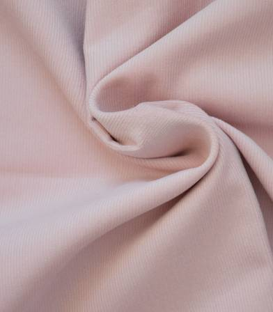 Tissu velours milleraies fin rose poudre
