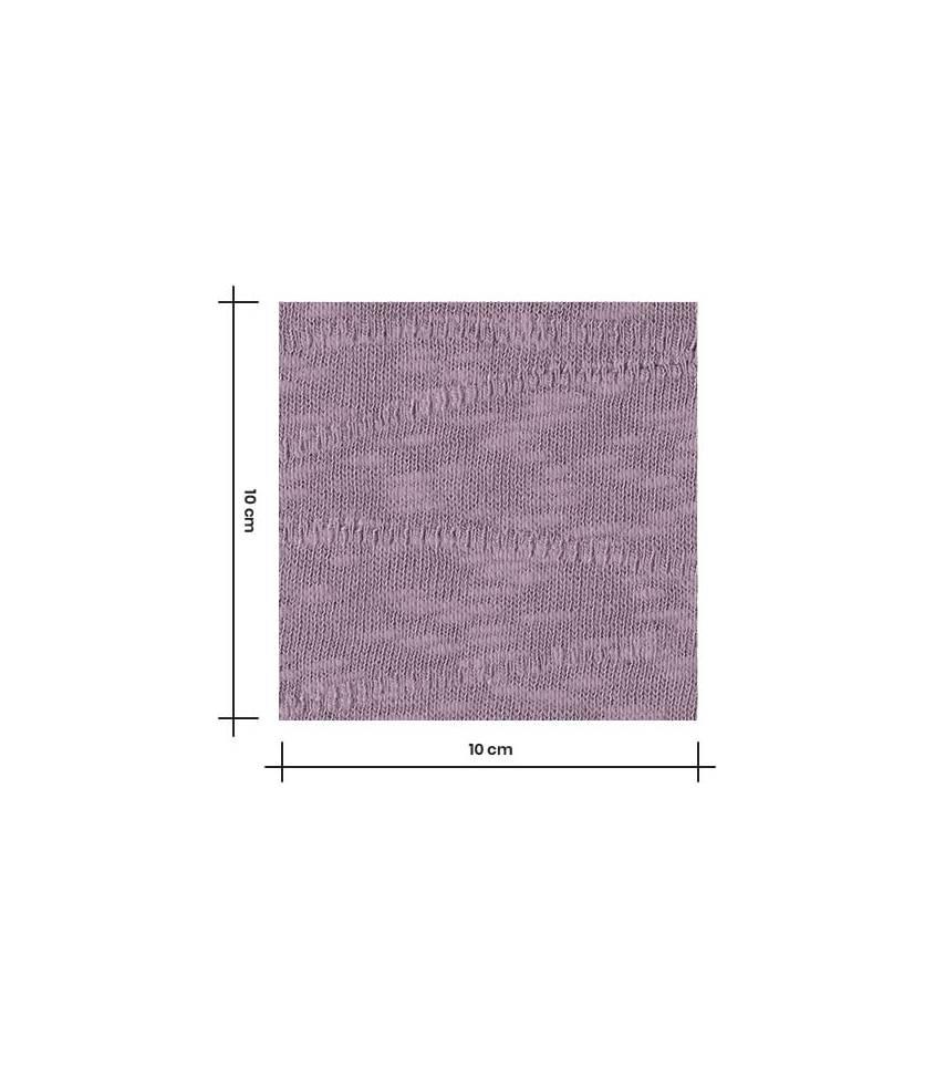 Tissu Jersey Bio - Jacquard Slub - Lilac