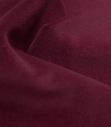 Tissu velours lisse bordeaux