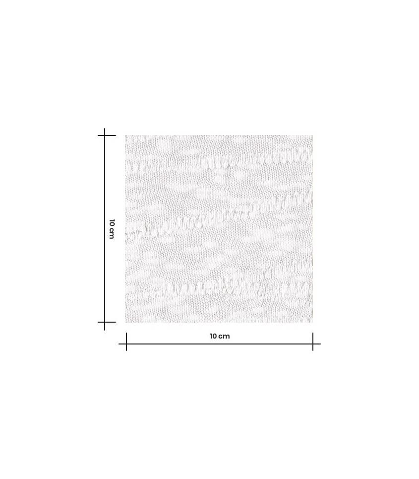 Tissu Jersey Bio - Jacquard Slub - creamy white
