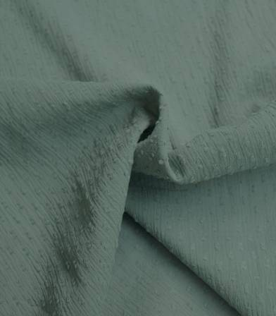 Tissu plumetis crinkle - Dusty green