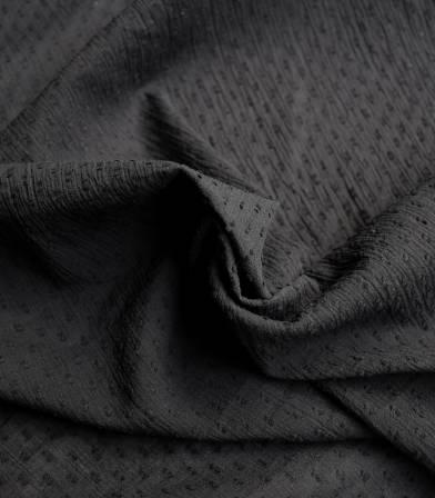 Tissu plumetis crinkle - black