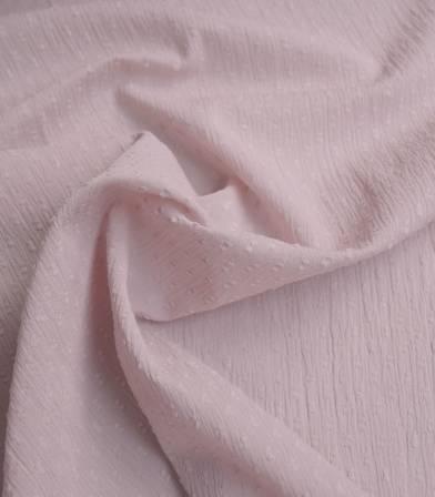 Tissu plumetis crinkle - poudre