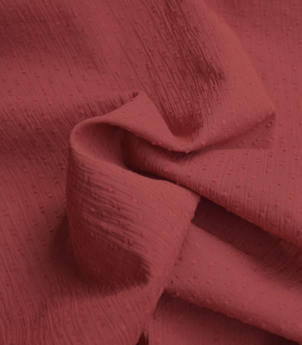 Tissu plumetis crinkle - blush