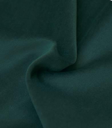 Tissu velours lisse vert bouteille