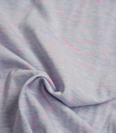 Tissu jersey flammé neon - Lilas