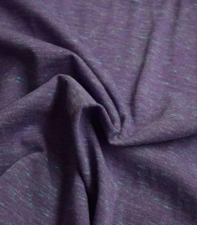 Tissu jersey flammé neon - Purple