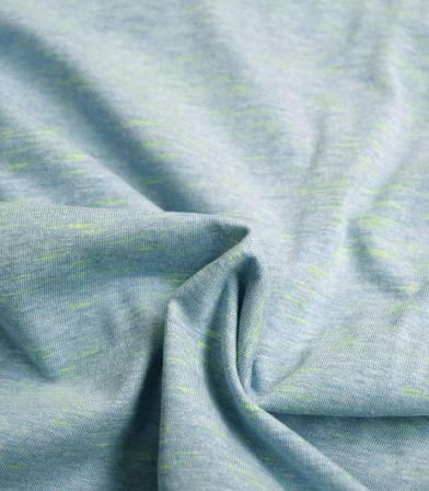 Tissu jersey flammé neon - Azur