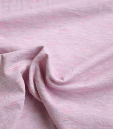 Tissu jersey flammé neon - Rose