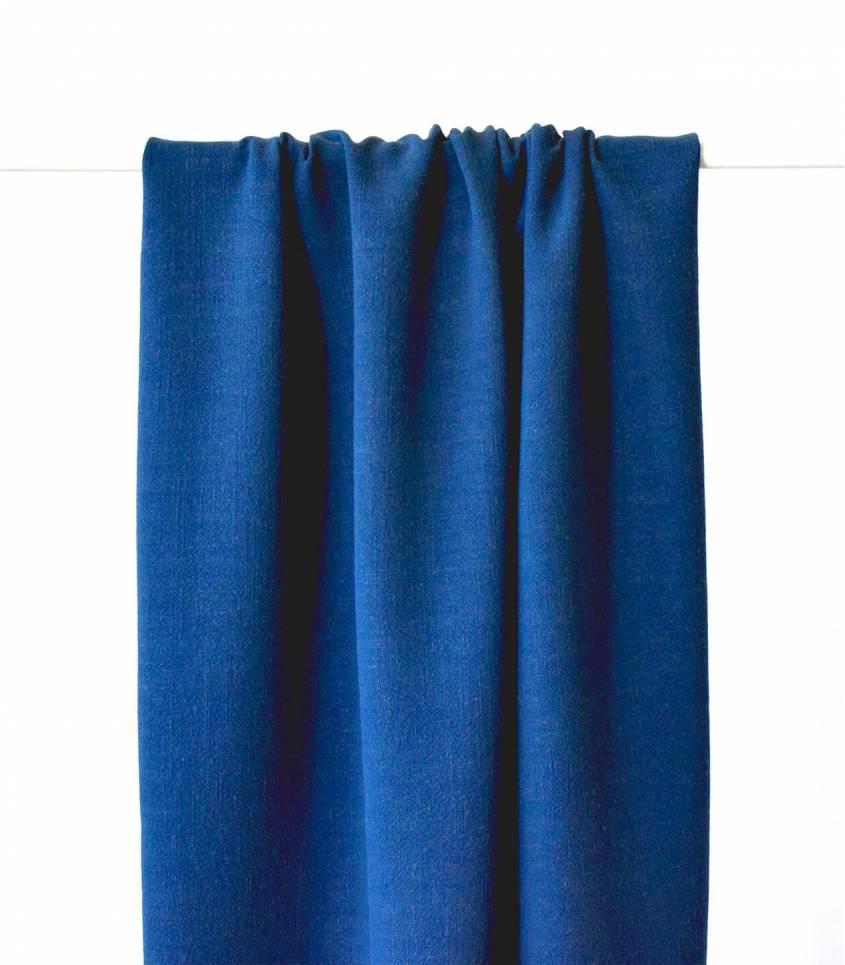 Tissu Lin viscose - Bleu