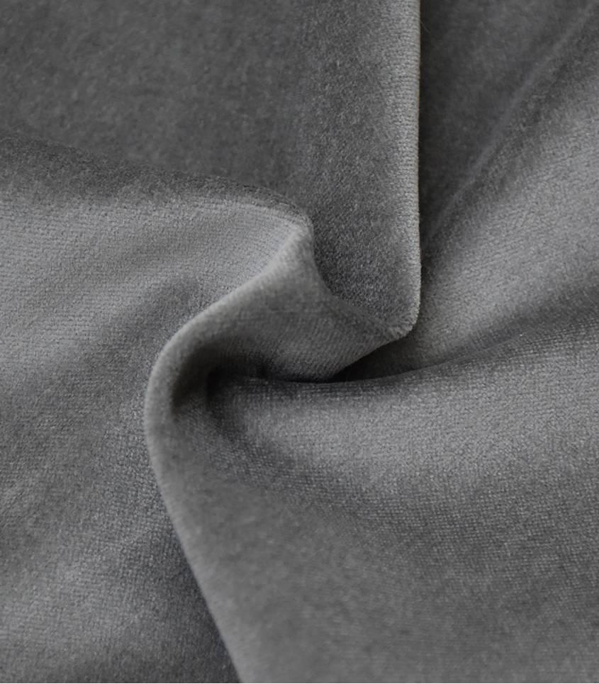 Tissu velours lisse gris poivre