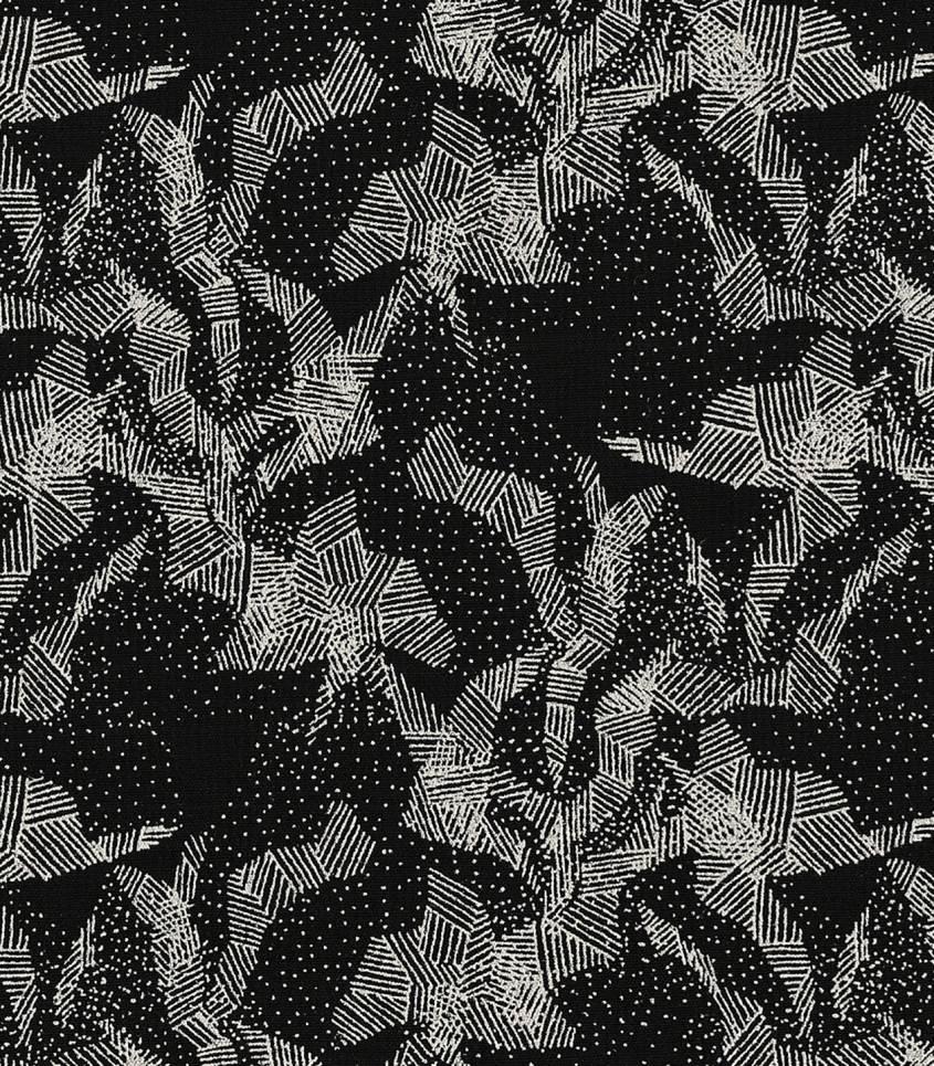 Tissu viscose Abstract mountain black