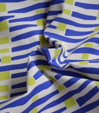 Tissu Canvas coton - Fluor Abstract