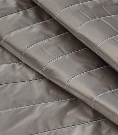 Tissu matelassé métallisé - Grey