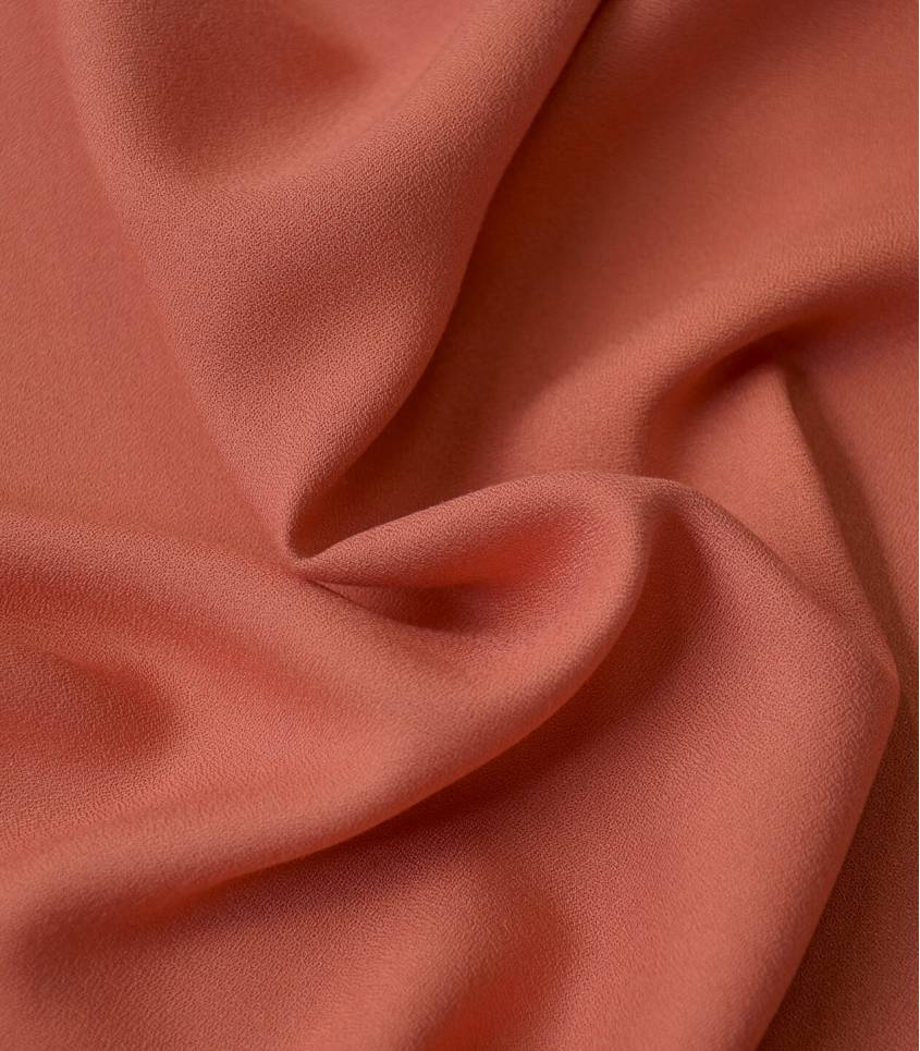 Tissu crêpe de viscose - Brique