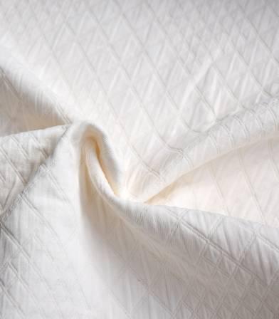 Tissu coton matelassé Molly - écru
