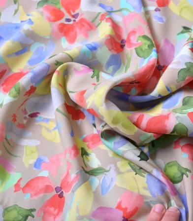 Tissu viscose Flora