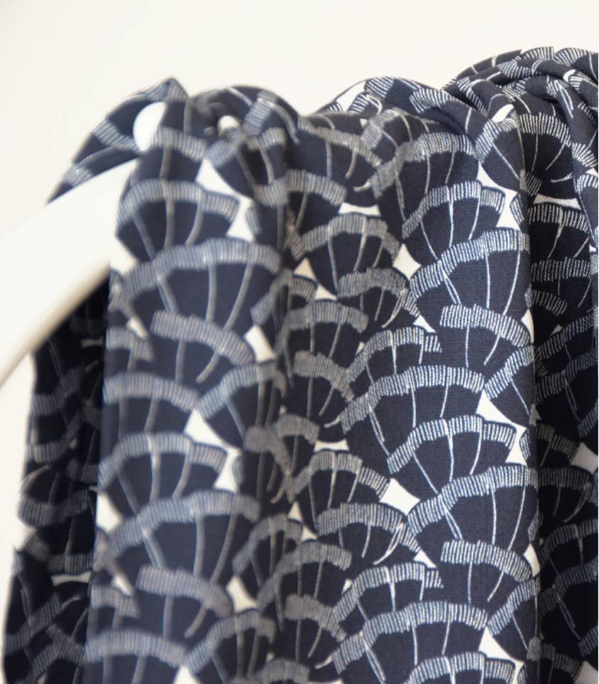 Tissu viscose Discrète - navy