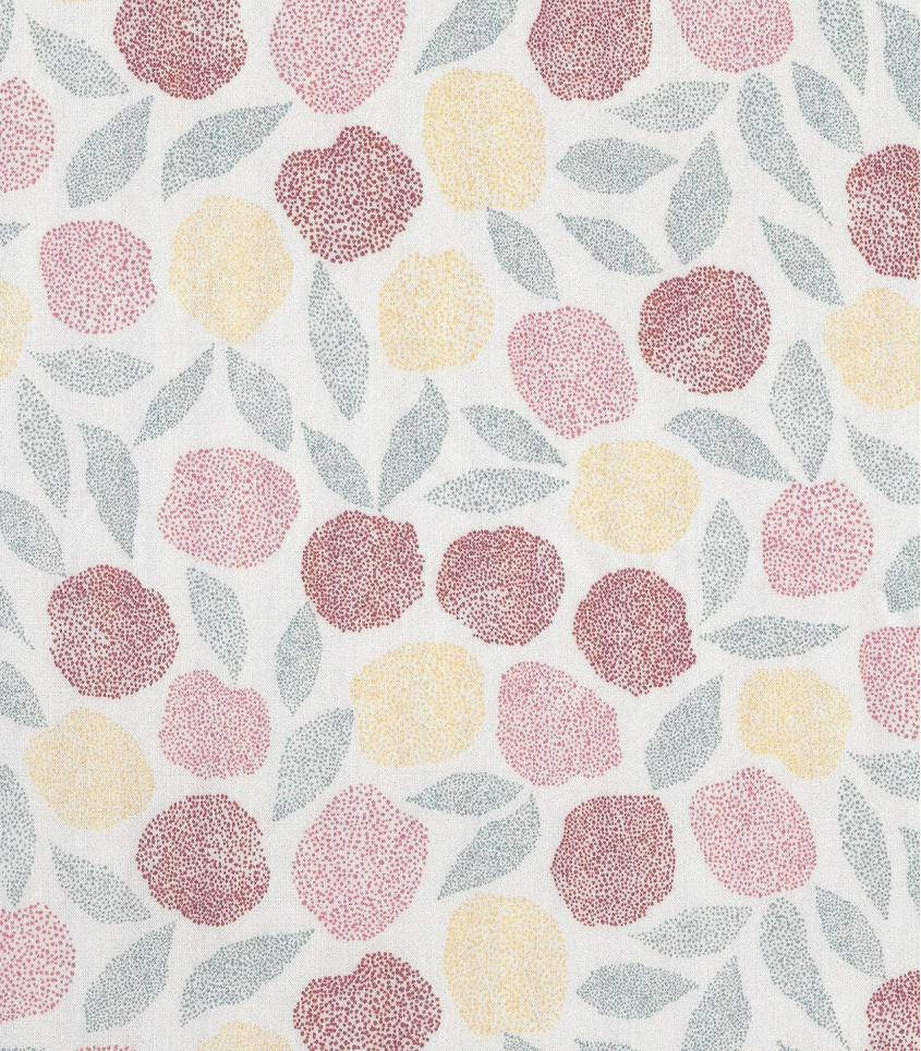 Tissu viscose Fruit des bois  - cream