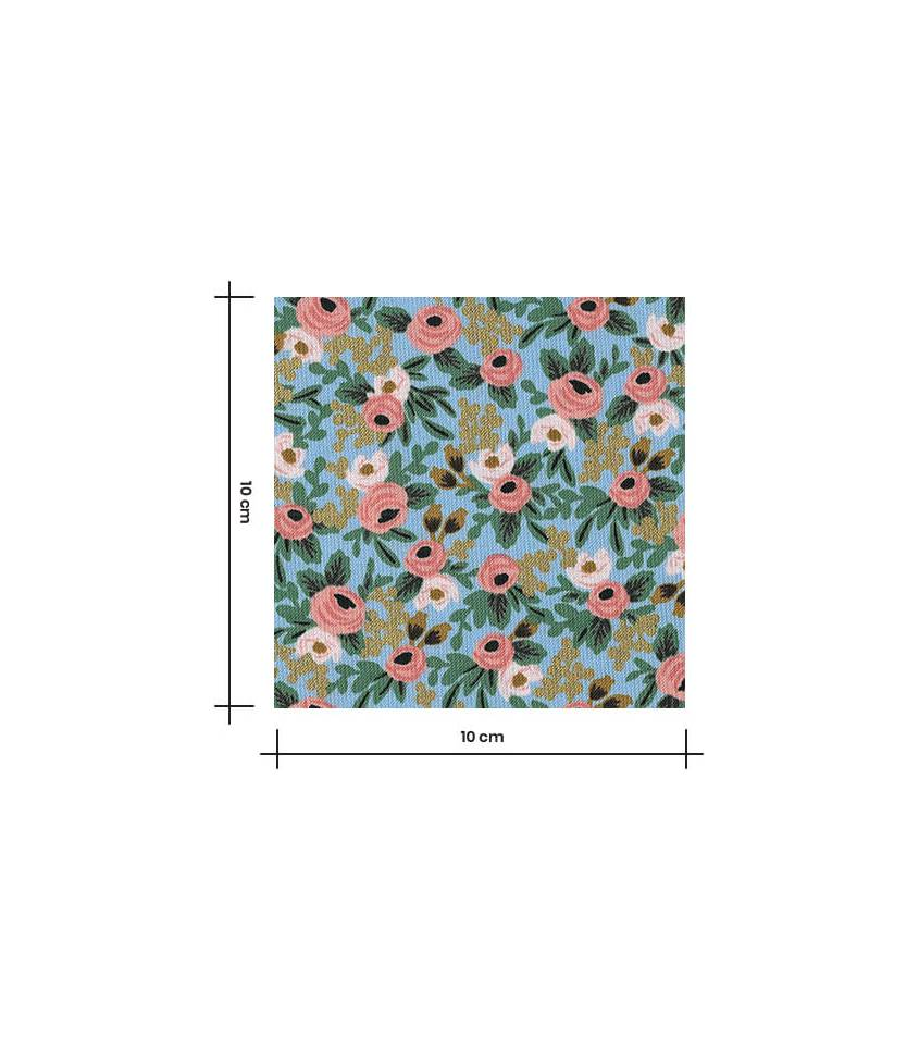 Tissu Wild rosa - Chambray metallic
