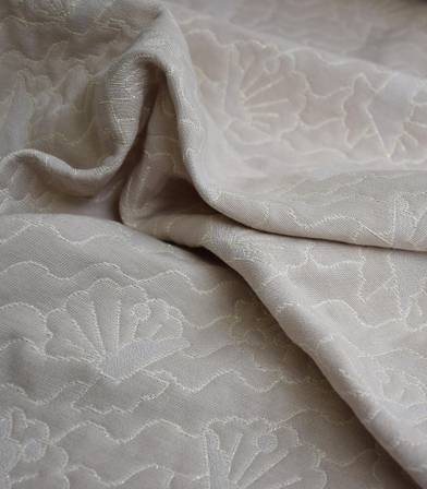 Tissu jacquard Seashell - Sable Doré