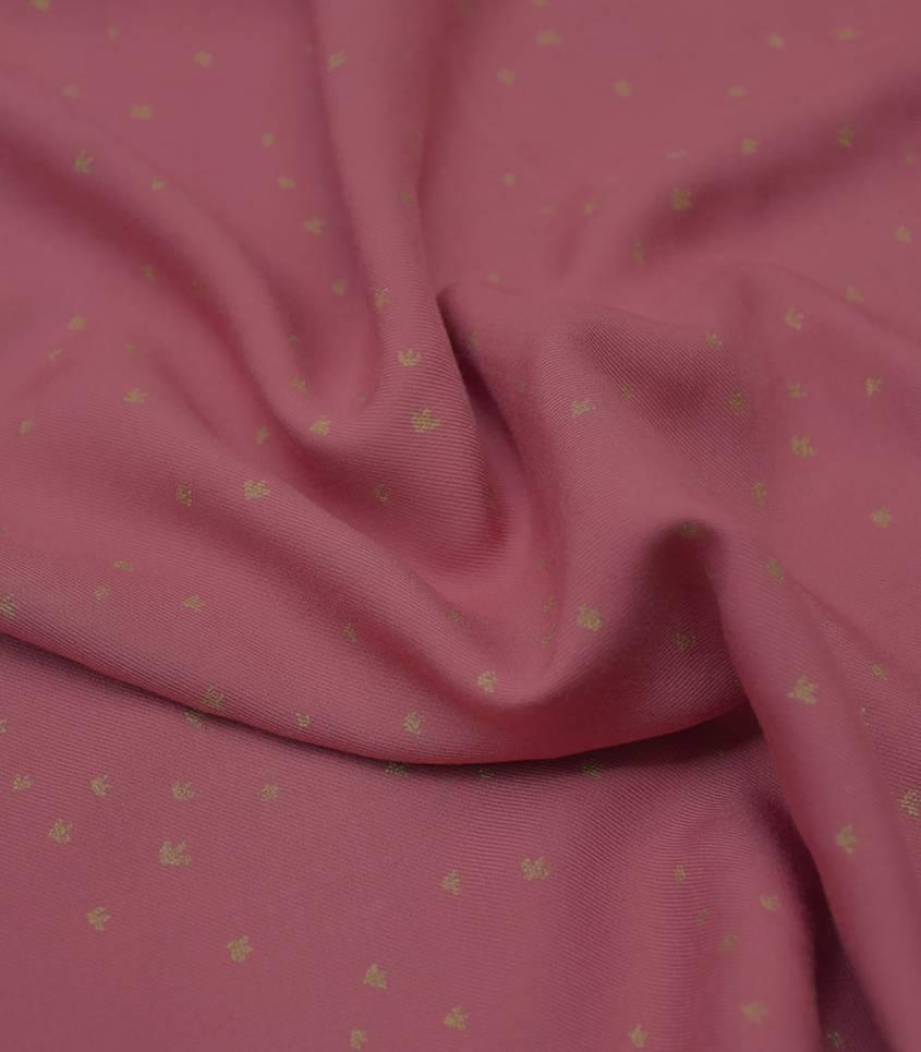 Tissu viscose Golden flowers - blush