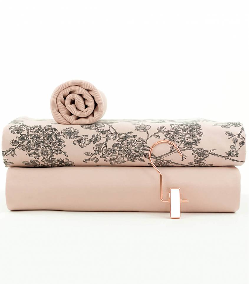 Tissu French terry - Pale pink