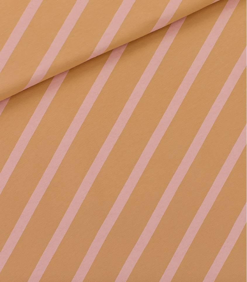 Tissu French terry Diagonals XL - Fenugreec brown