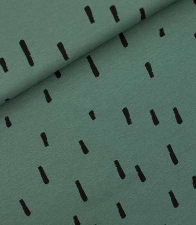 Tissu French Terry Swipes - Sagebrush green