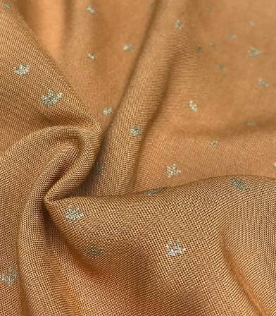 Tissu viscose Golden flowers - caramel