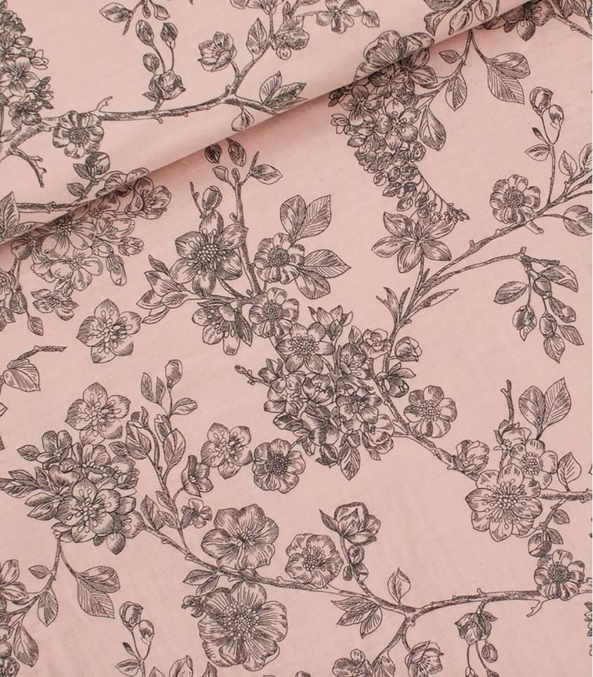 Tissu Double gaze Cherry Blossom - Pale pink