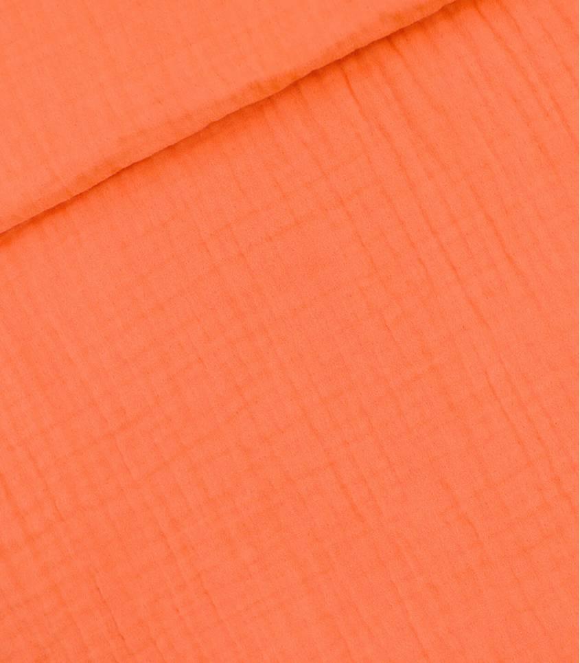 Tissu Double gaze - Orange Persimmon