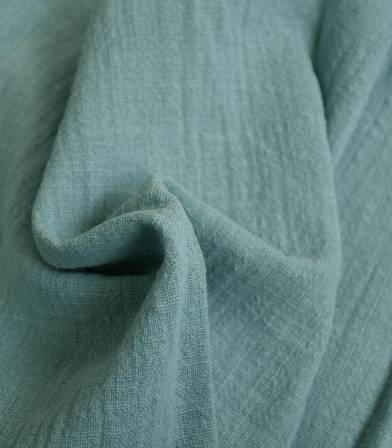 Tissu gaze de coton - Céladon