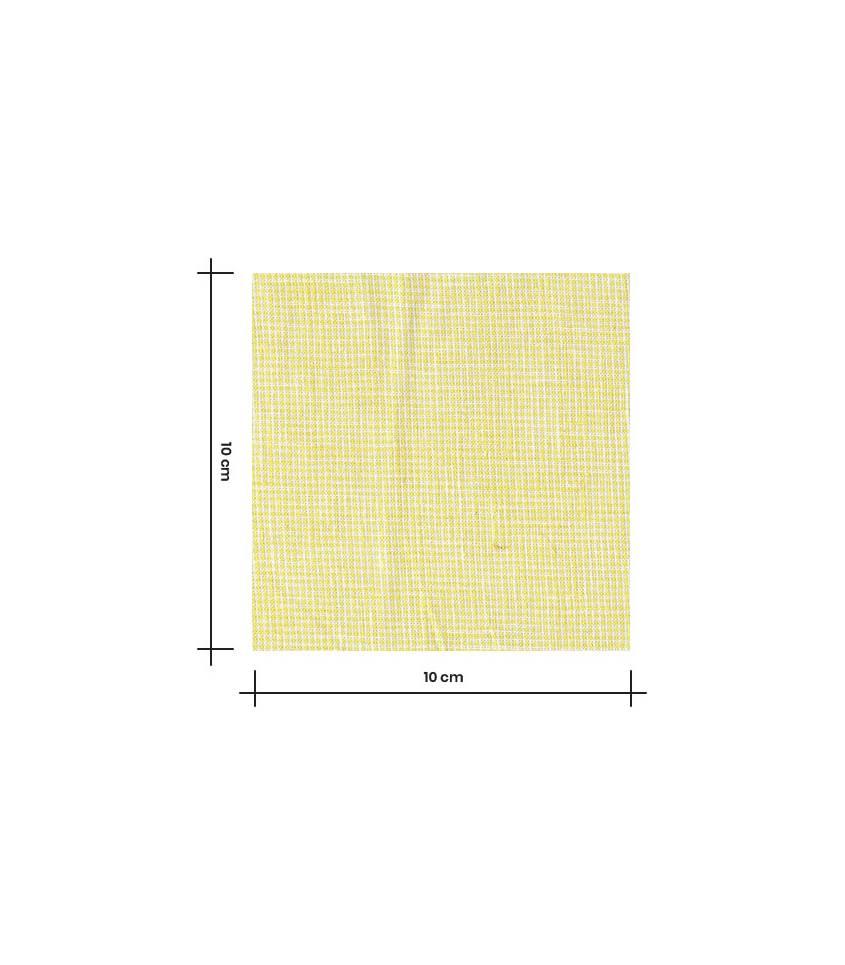 Tissu Pied de puce - citron