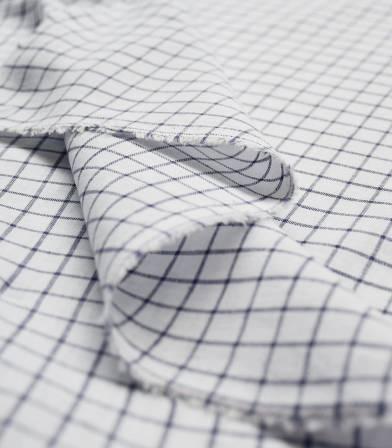 Tissu Grands carreaux - marine