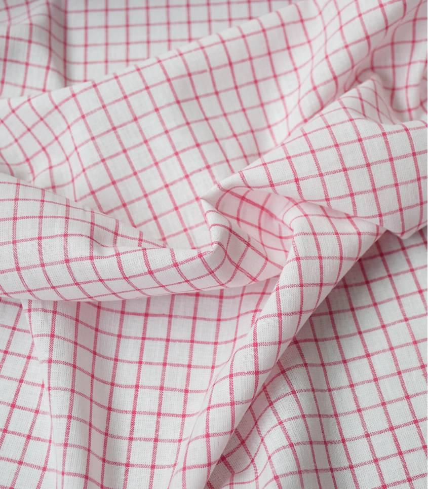 Tissu Grands carreaux marine - rouge