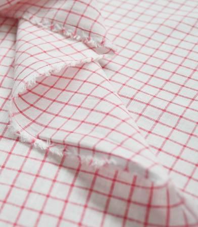 Tissu Grands carreaux - rouge