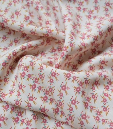 Tissu viscose Mini Prairie - blush