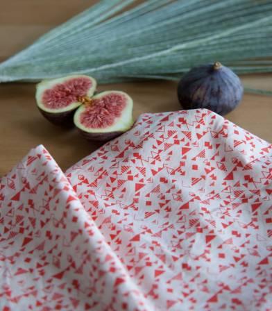 Tissu Shape Red