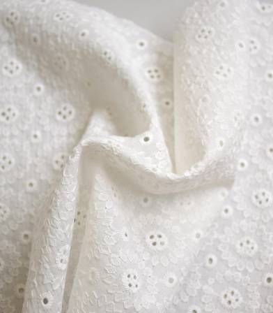 Broderie anglaise Marguerite - Off white