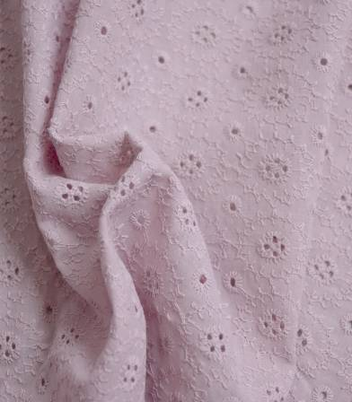 Broderie anglaise Marguerite - Pink