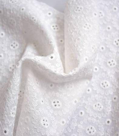 Broderie anglaise Marguerite - White