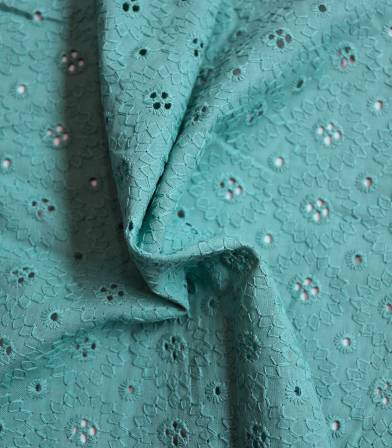 Broderie anglaise Marguerite - Menthe