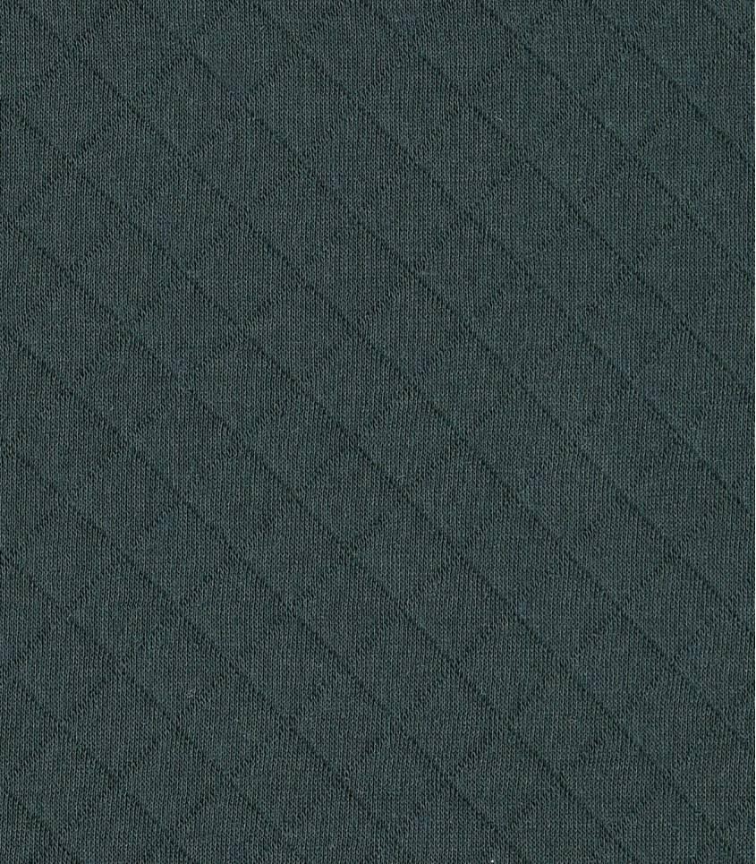 Tissu Jersey matelassé gris foncé
