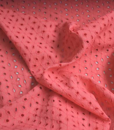 Broderie anglaise Ombelle - Corail