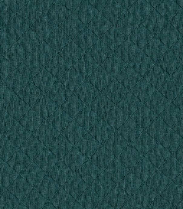 Tissu Jersey matelassé vert sapin