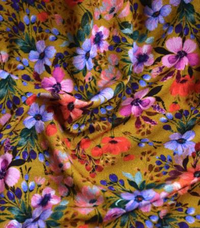Tissu jersey viscose - Prairie Ocre