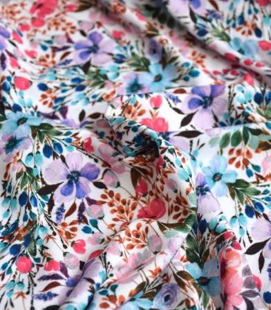 Tissu jersey viscose - Prairie purple