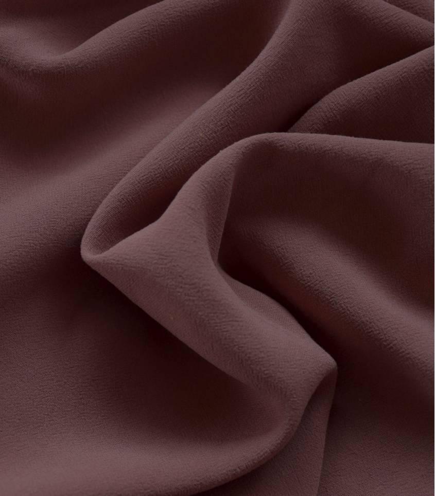 Tissu viscose Stonewashed - Chocolat